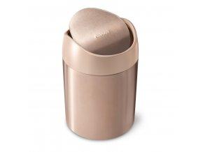 3898 simplehuman mini odpadkovy kos na stul 1 5 l rose gold nerez ocel cw2085