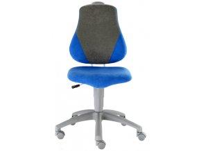 Dětská židle FUXO Alba V-LINE modrá-šedá Alba  Dárek pistole NERF