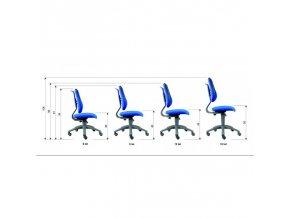 Dětská židle Alba FUXO S-LINE modro-zelená