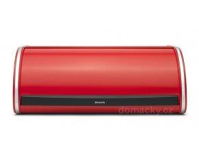 Chlebník Brabantia Roll Top zářivě červená