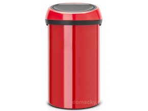 Koš Touch Bin 60L zářivě červená