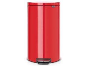Pedálový koš FlatBack+ Silent 30L zářivě červená