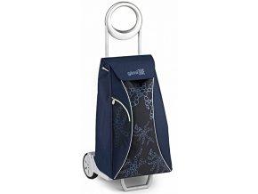 Nákupní taška na kolečkách MARKET QUEEN modrá