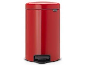 Pedálový koš NewIcon 12L zářivě červená