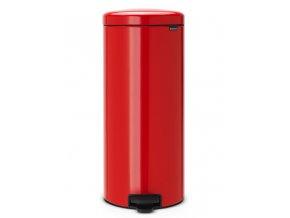 Pedálový koš NewIcon 30L zářivě červená