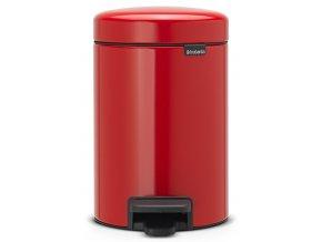 Pedálový koš NewIcon 3L zářivě červená