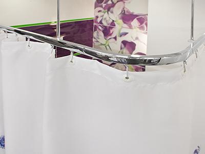 Kolejnicové závěsové sprchové tyče