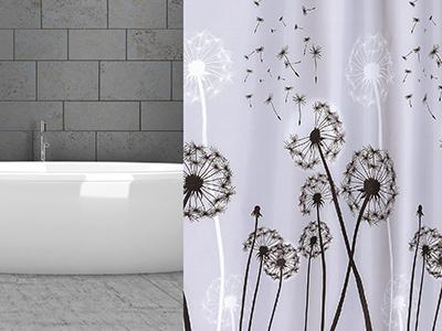 Sprchové závěsy textilní