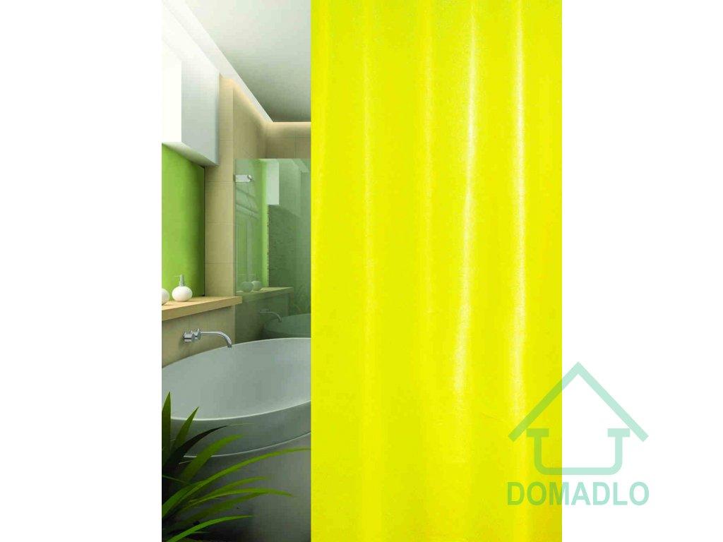 textil sprchovy zaves žlutý uni W00190 domadlo