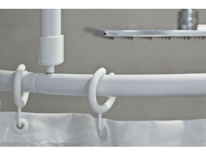 SYSTEM - bezbariérová tyč do sprchovacího koutu na míru bílá