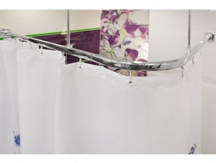 408 6 kolejnicova zavesova tyc do sprchovaciho koutu 160x70 cm stribrna
