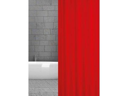 textilní závěs do sprchy tmavě červený w00121 rot uni domadlo