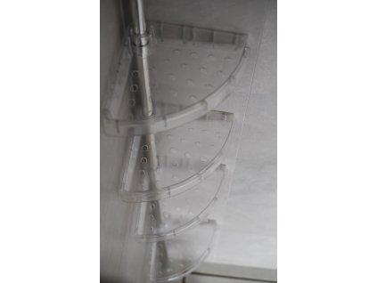 teleskopická sprchová police