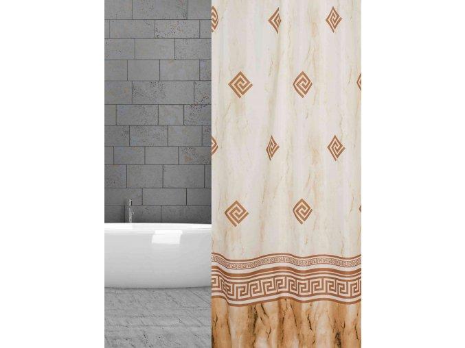 koupelnový závěs textil hnědý ornament w48606 braun Ornamente domadlo