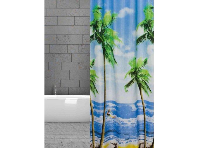 textil koupelna zaves w08871 Palmenstrand domadlo