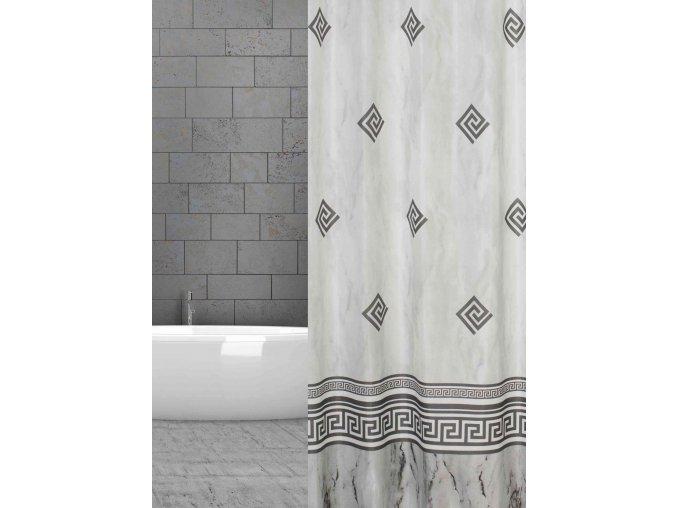 záves sprchovy textilni šedý ornament w48605 grau Ornamente domadlo