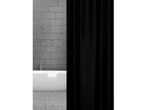 textilní koupelnový závěs černý w00161 schwarz uni domadlo