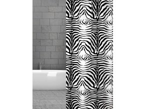sprchový textilní závěs Zebra domadlo