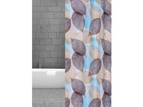 textilní závěs koupelnový listy w12001 domadlo