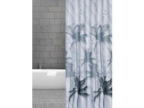 textilní závěsy koupelnové palmy cerne w07777 domadlo
