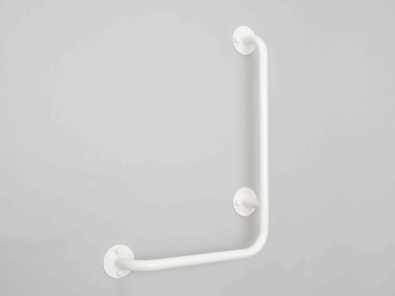 lomené madlo sprchové LEVÉ BÍLÉ PREMIUM šířka š: 40 cm, výška v: 60 cm