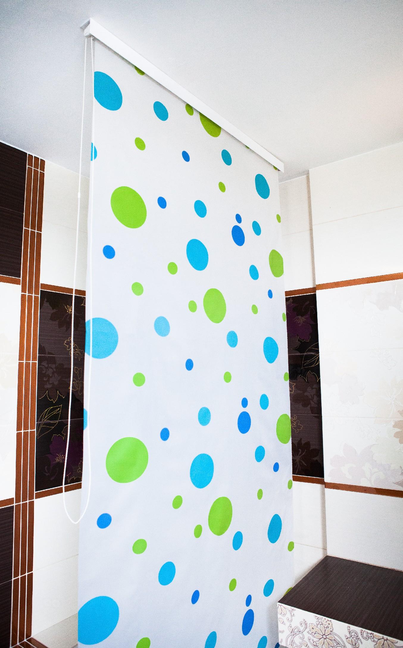 ROLETOVÁ VANOVÁ ZÁSTĚNA SPRCHOVÁ SYLT STANDARD šířka rolety: 80 cm
