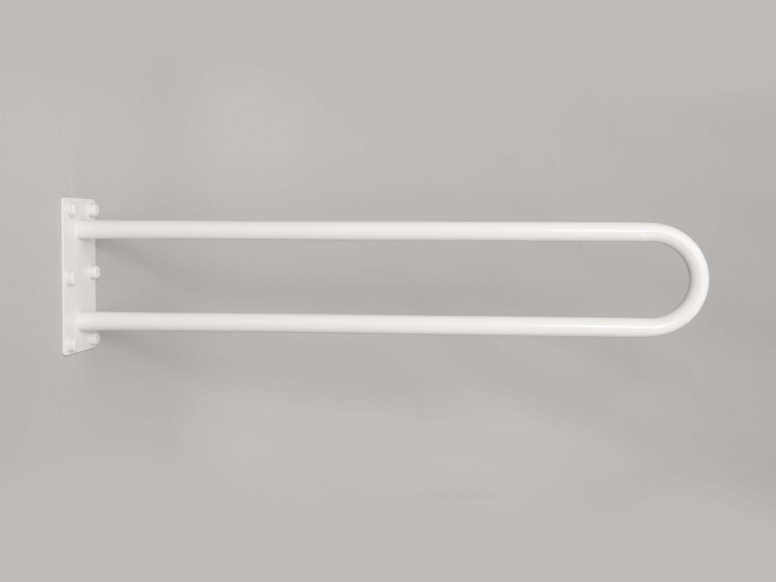 """pevné madlo """"U"""" k wc BÍLÉ PREMIUM Délka: 80 cm"""