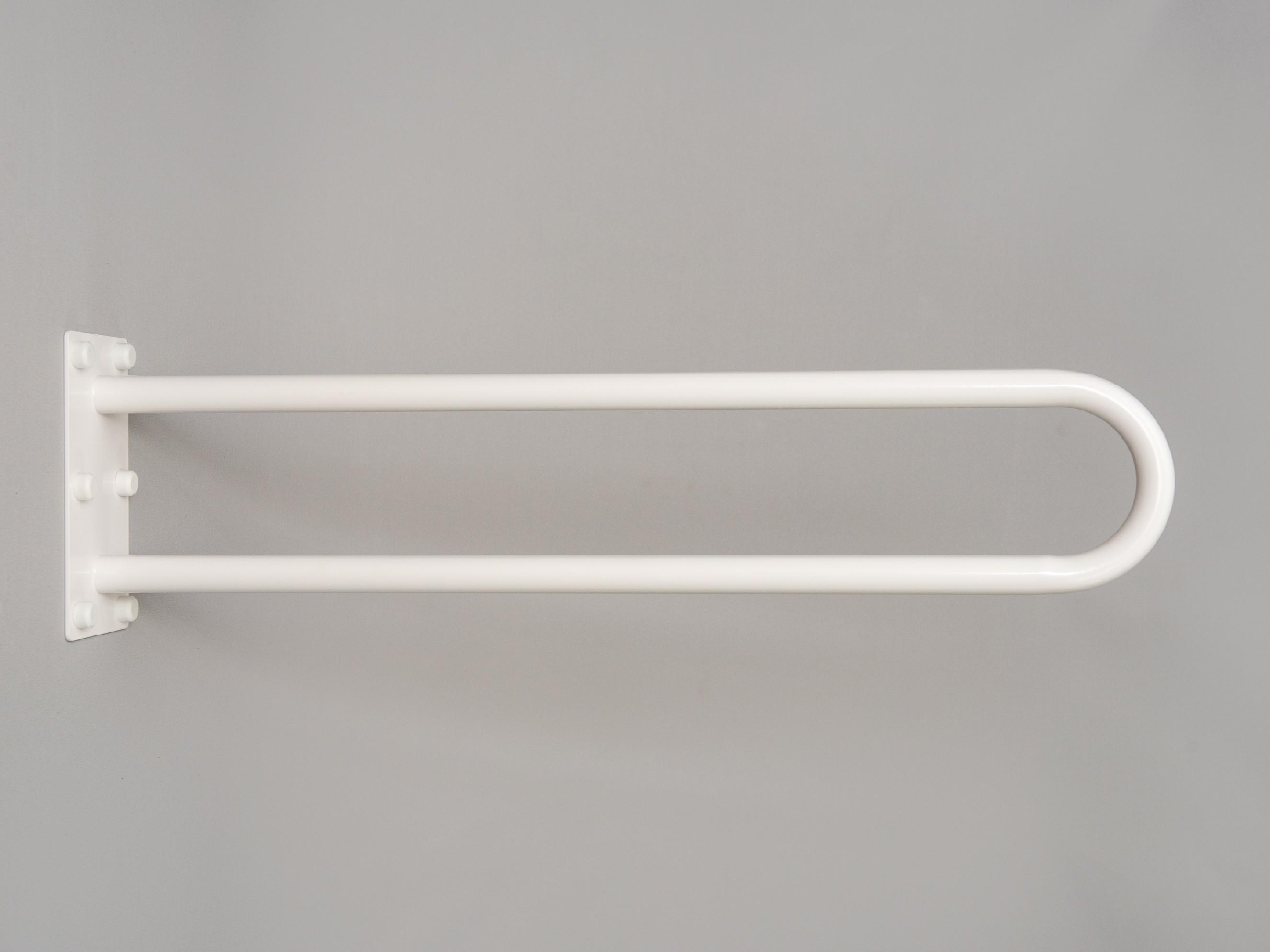 """pevné madlo """"U"""" k wc BÍLÉ PREMIUM Délka: 70 cm"""