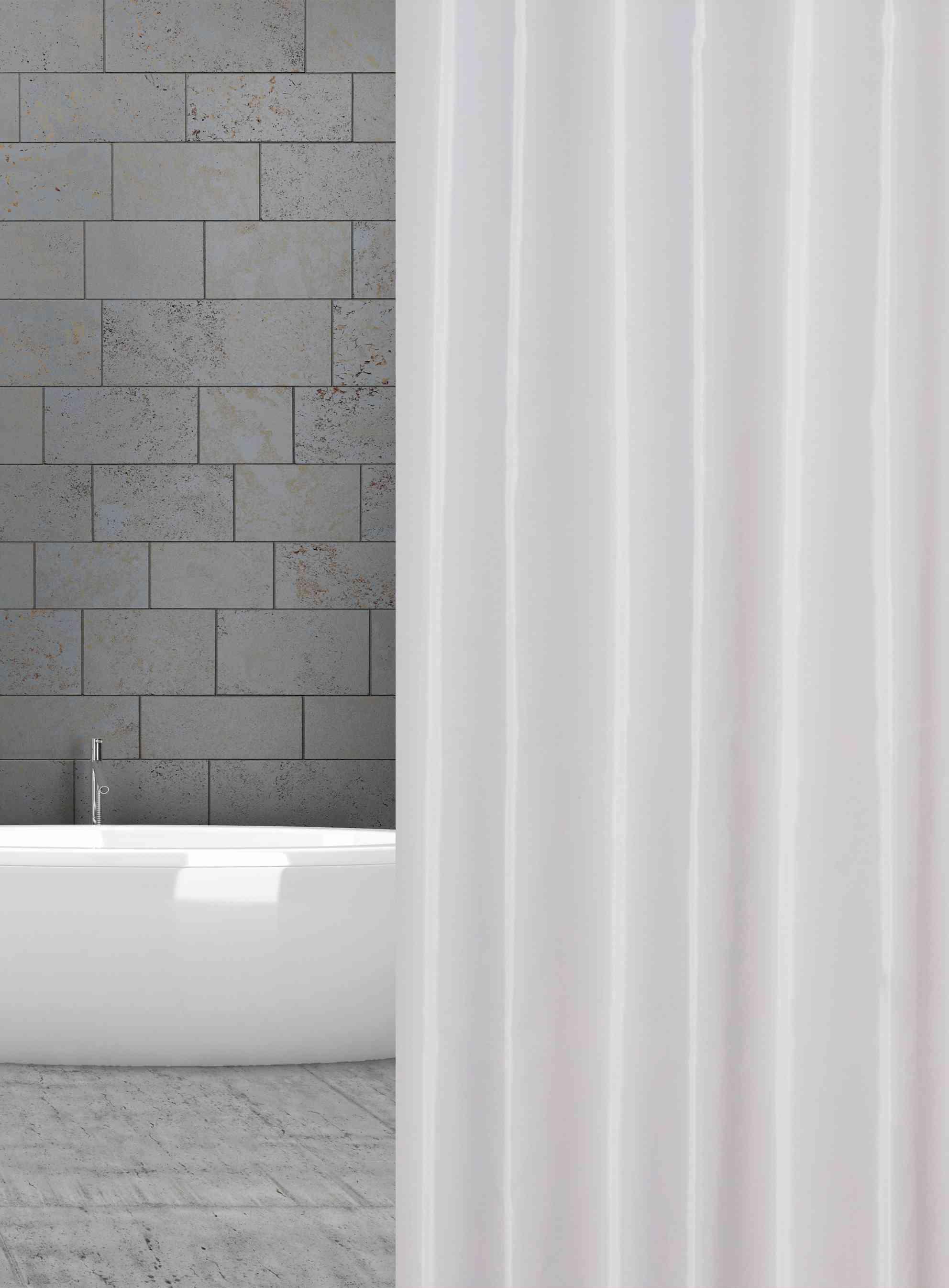 textilní sprchový závěs bílý šířka x výška: 120 x 180