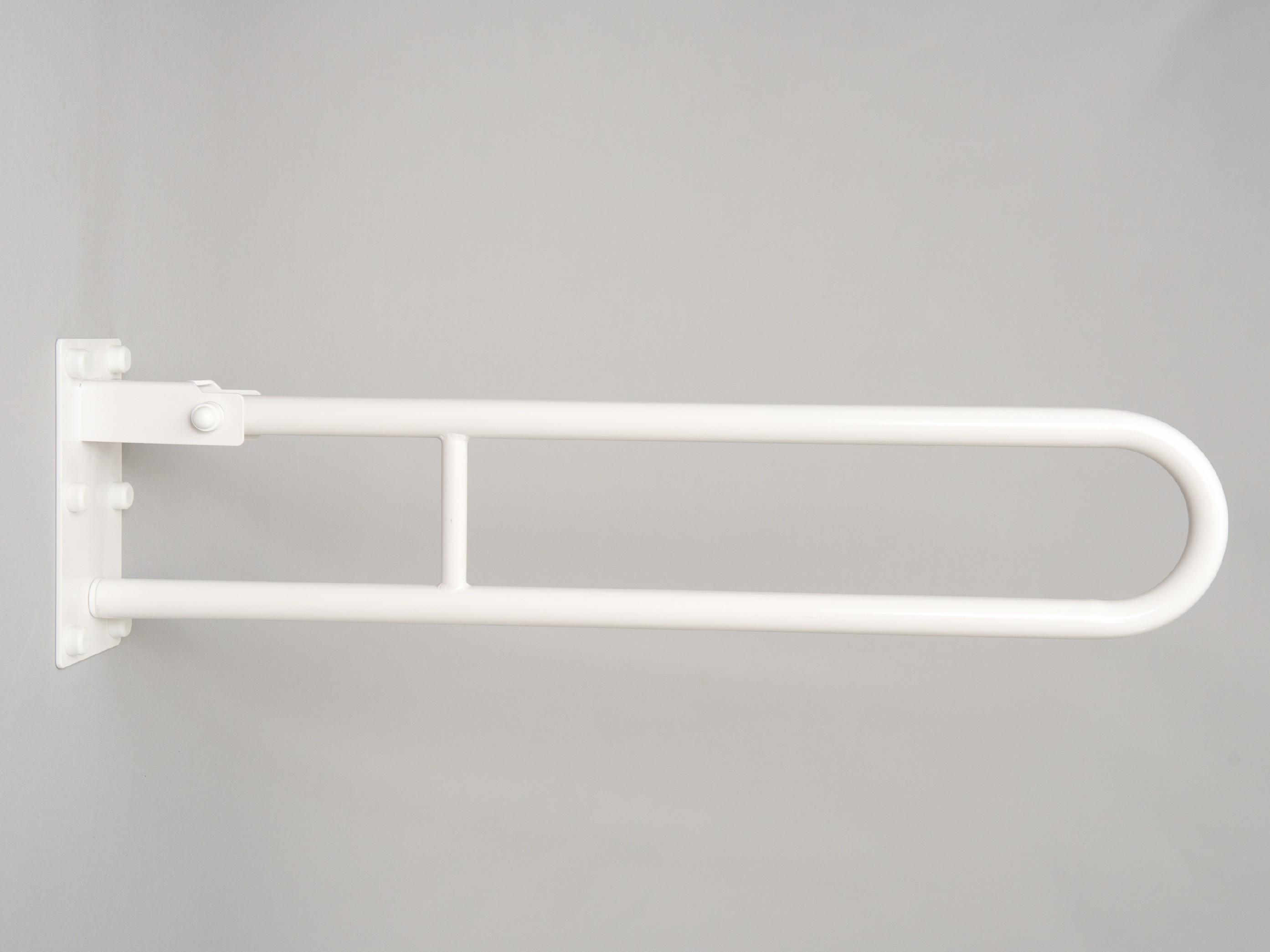 sklopné madlo k wc BÍLÉ PREMIUM Délka: 80 cm