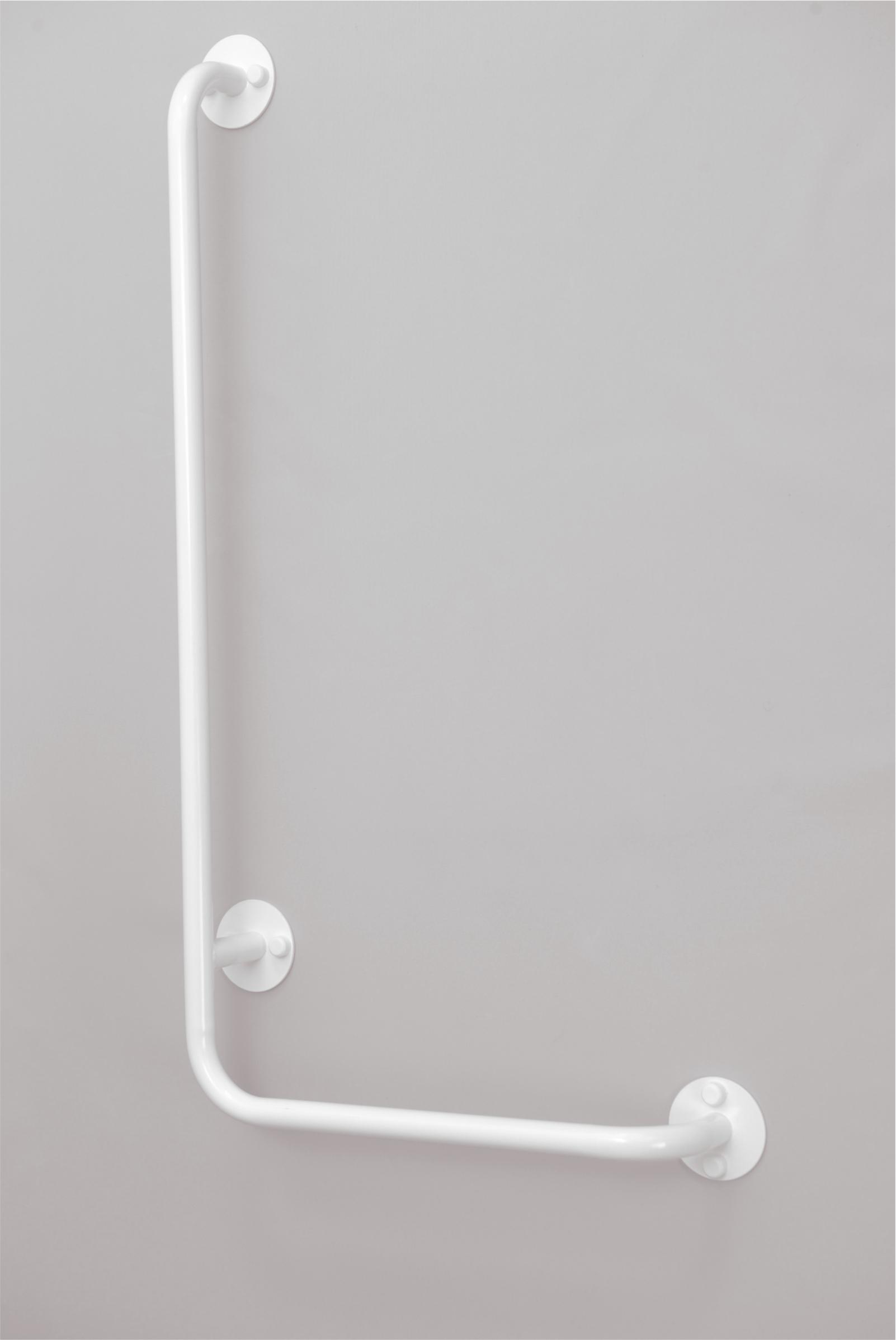lomené madlo sprchové PRAVÉ BÍLÉ PREMIUM šířka š: 45 cm, výška v: 90 cm