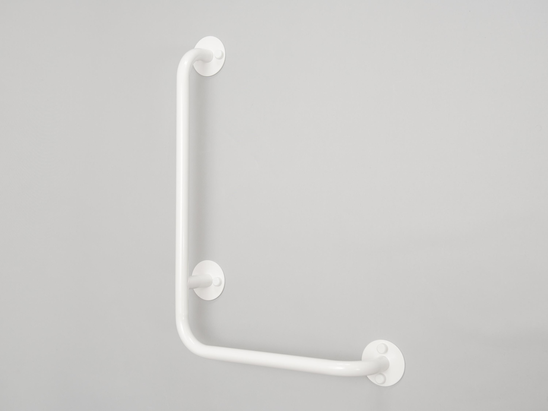 lomené madlo sprchové PRAVÉ BÍLÉ PREMIUM šířka š: 40 cm, výška v: 60 cm