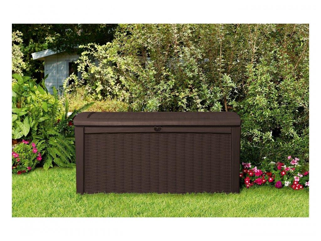 350 keter borneo brown zahradni ulozny box 416 l