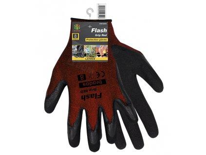 2192 ochranne rukavice bradas flash grip red latex vel 8