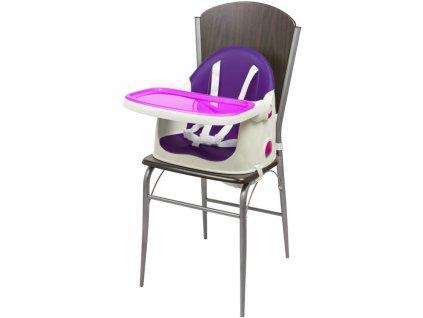 Dětská rostoucí jídelní židlička KETER Multidine violet 2