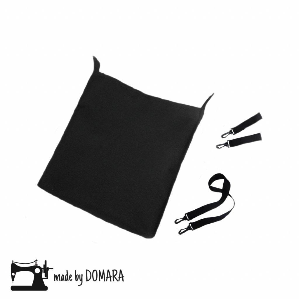 Taška na kočárek 40x40 cm s úchytkami na madlo a popruhem