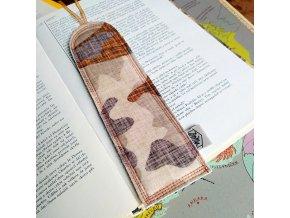 upcyklovaná záložka do knihy