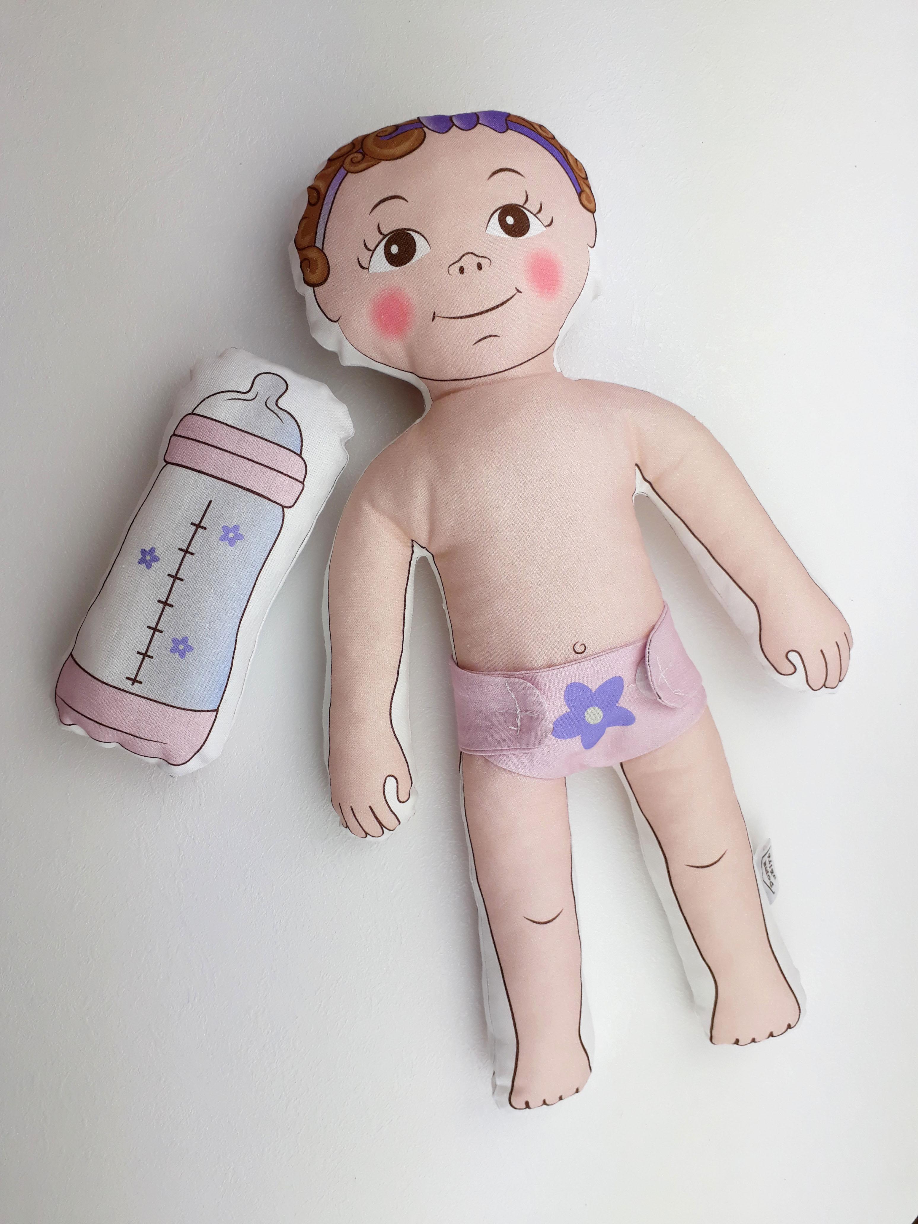 Návod k ušití miminka, plenky a lahvičky
