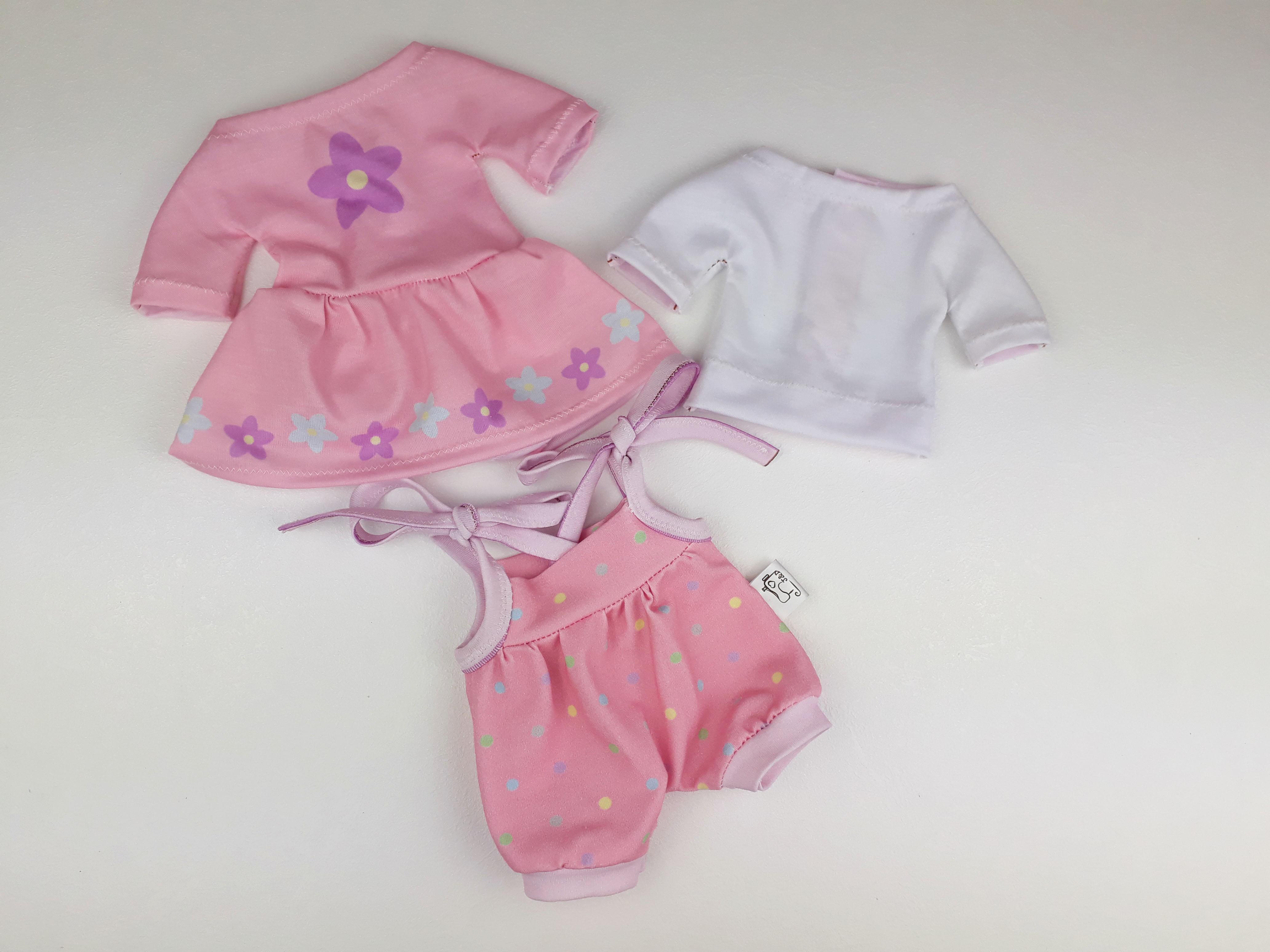 Návod k ušití letních růžových oblečků
