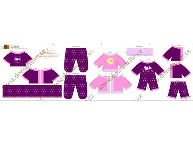 oblečky látková panenka fialové náhled shop 02 02