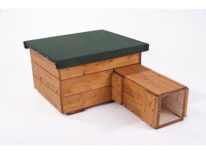 Domeček pro ježka s nátěrem: dub