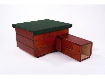 Domeček pro ježka s nátěrem: teak
