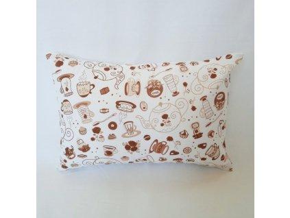 Měkký polštářek s meduňkou 20x30 cm - coffee