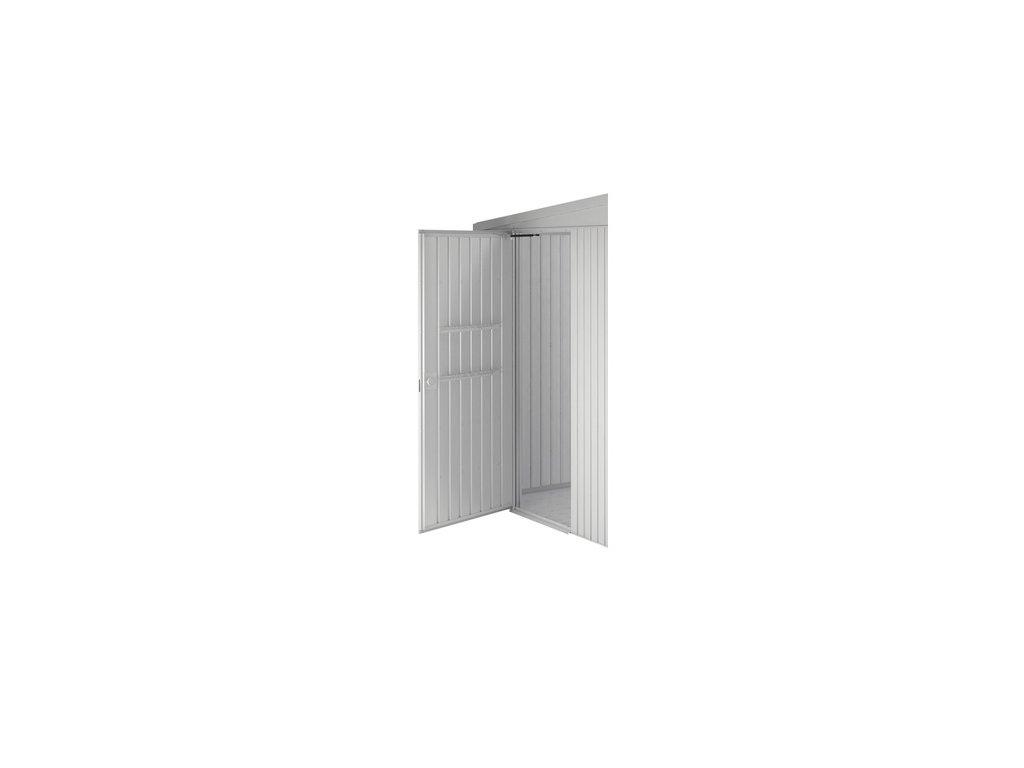zahradni domek highline H5 stribrna, jednokridly, bocni dvere