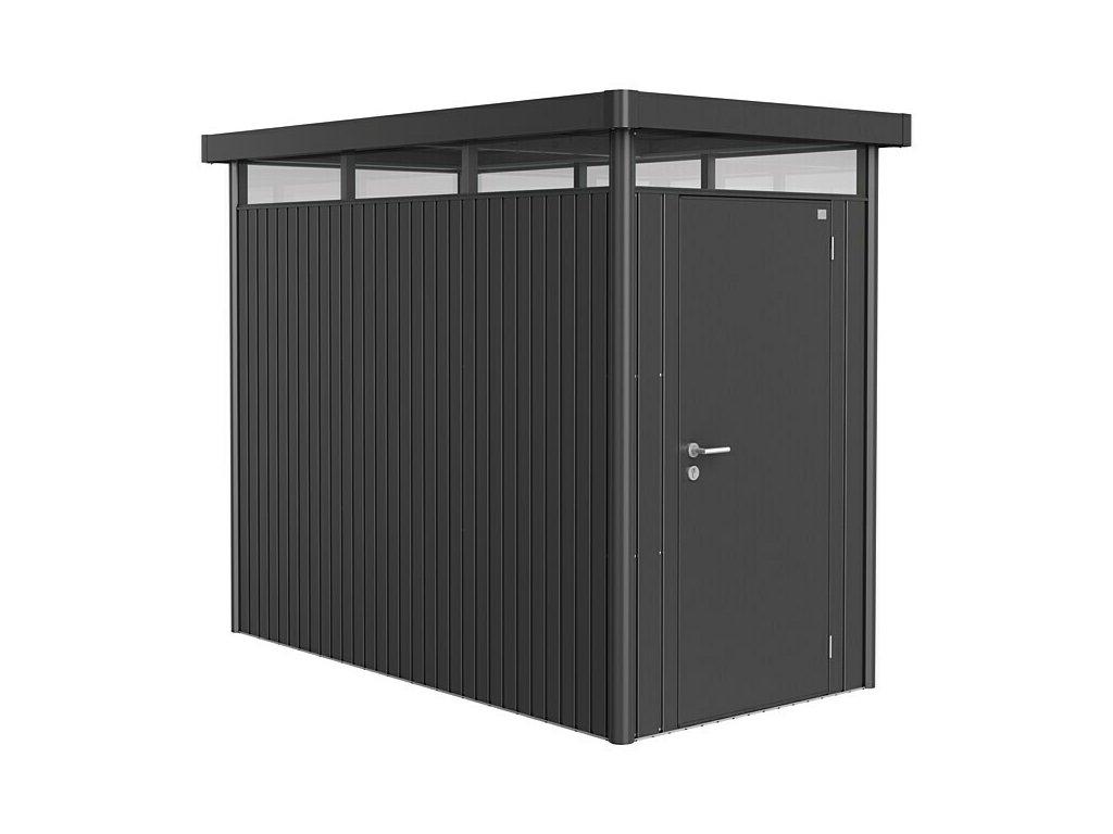 Biohort Zahradní domek HIGHLINE® HS, tmavě šedá metalíza S jednokřídlými dveřmi