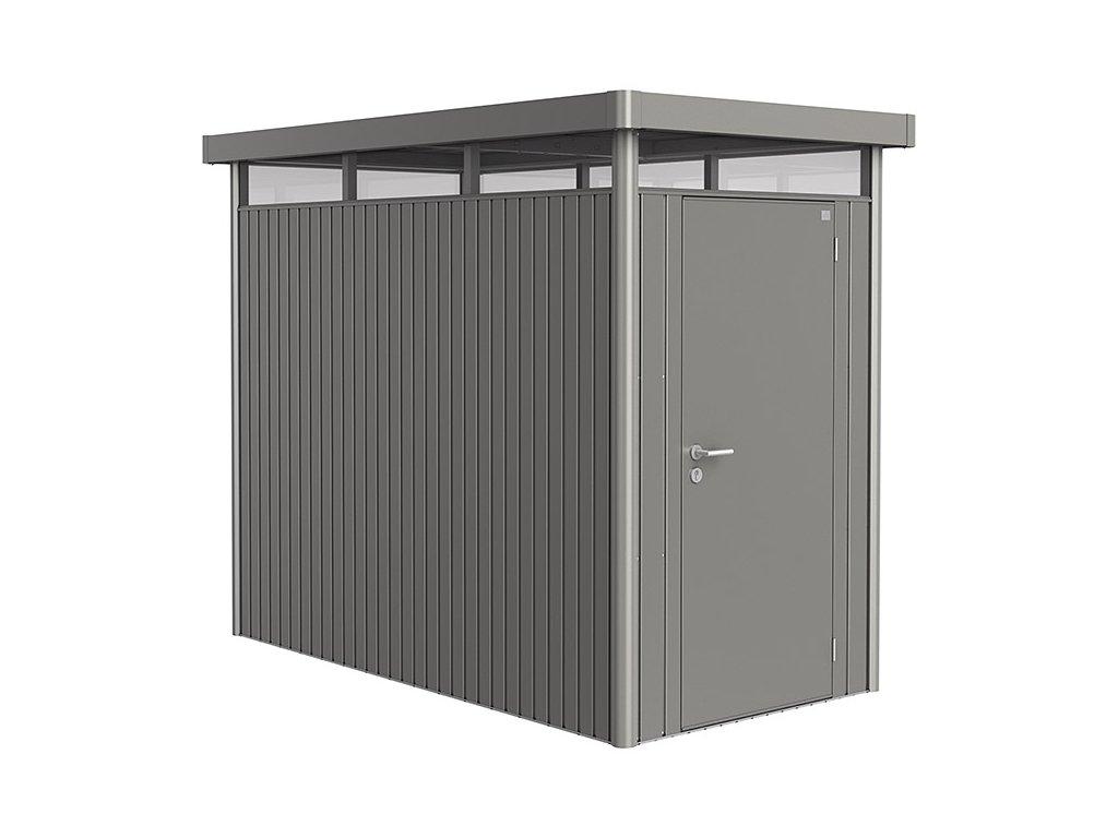 Biohort Zahradní domek HIGHLINE® HS, šedý křemen metalíza S jednokřídlými dveřmi