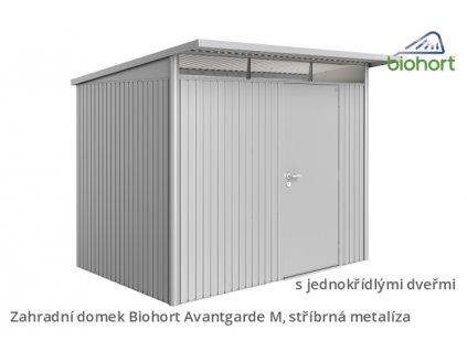 zahradni domky biohort avantgarde stribrna metaliza