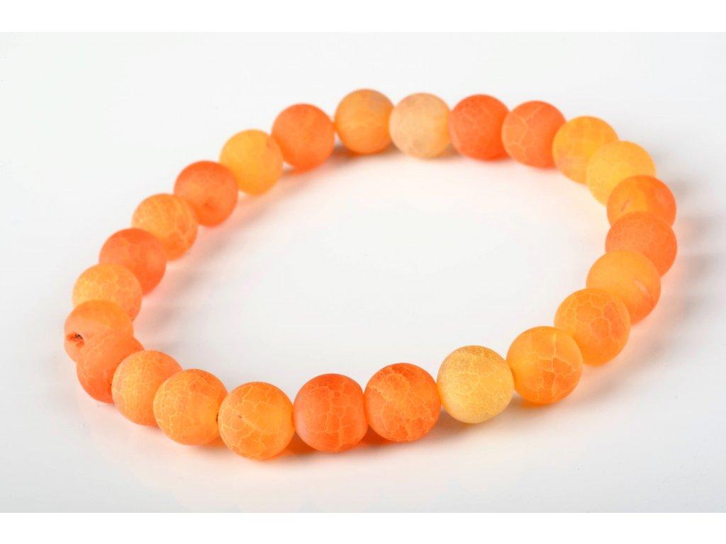 Náramek achát oranžový 8mm