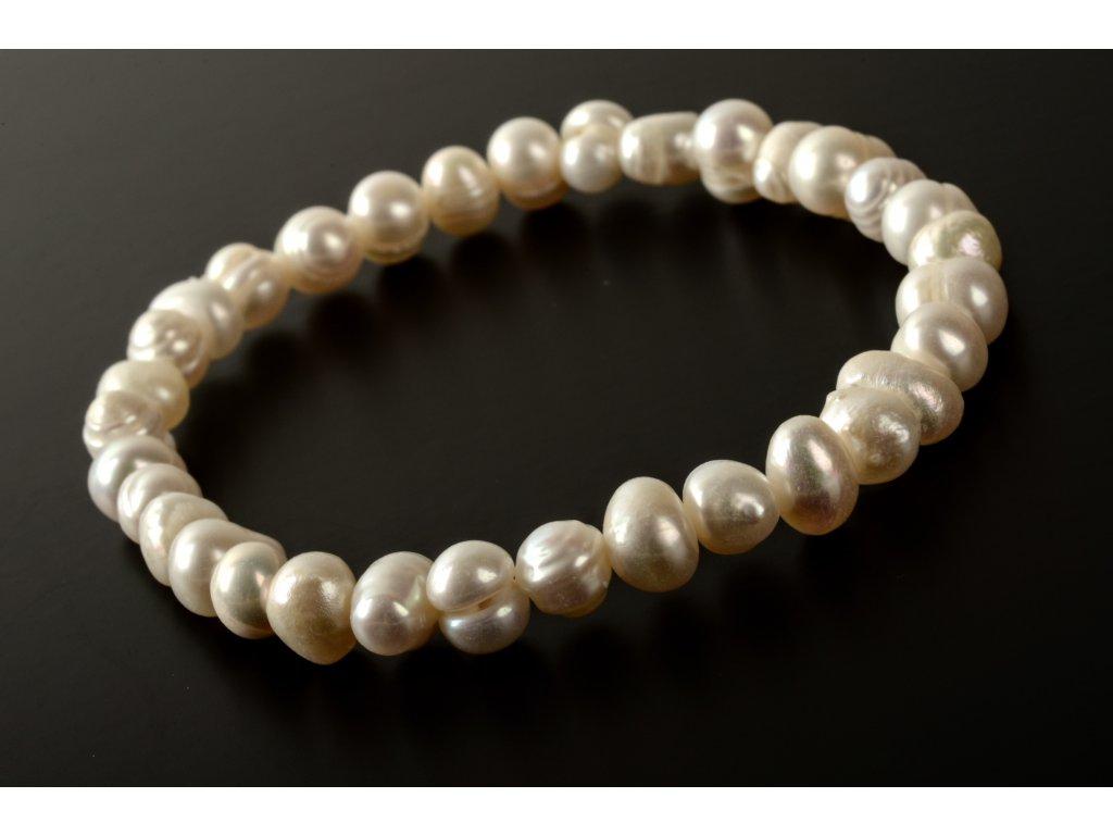 Náramek říční perly 6 - 7mm
