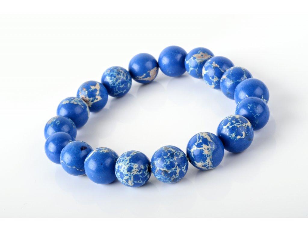 Náramek regalit modrý 10mm